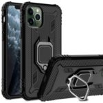 Finger Ring TPU Phone Case [Built-in Magnetic Metal Sheet] for Apple iPhone 11 Pro 5.8 inch – Black