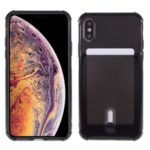 Drop-proof TPU Back Case Cover with Card Holder for iPhone XS/X 5.8-inch – Black