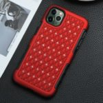 Bling Rhinestone Decor Plastic+TPU Hybrid Phone Case for iPhone 11 Pro Max 6.5-inch – Red