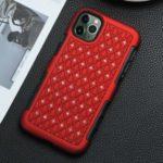 Shiny Rhinestone Decor PC+TPU Hybrid Phone Case for iPhone 11 Pro 5.8-inch – Red