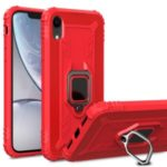 Finger Ring Kickstand Drop-proof TPU Mobile Cover for iPhone XR 6.1 inch – Red
