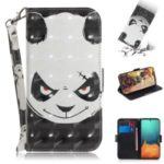Light Spot Decor Pattern Printing Wallet Leather Flip Case for Samsung Galaxy A71 – Panda