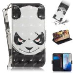 Light Spot Decor Patterned Leather Shell Stand Case for Samsung Galaxy S11e 6.4 inch – Panda