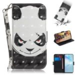 Light Spot Decor Patterned Leather Phone Shell with Stand for Samsung Galaxy S11 Plus 6.9 inch – Panda