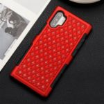 Detachable Rhinestone PC + TPU Hybrid Case for Samsung Galaxy Note 10 Plus 5G / Note 10 Plus – Red