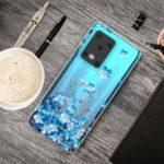 Pattern Printing IMD TPU Soft Phone Case for Samsung Galaxy S11 Plus – Blue Flowers