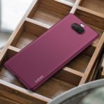 X-LEVEL Guardian Series Ultra Slim TPU Phone Case for Sony Xperia 8 – Wine Red