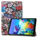Pattern Printing Tri-fold Stand Leather Tablet Case for LG G Pad 5 10.1 – Cartoon