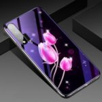 Eletroplating TPU Frame + Blue-ray Tempered Glass + PC Back Plate Combo Cell Phone Cover for Huawei nova 6 – Tulip