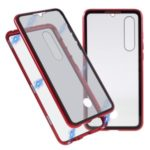 Anti-peep Metal Frame + Tempered Glass Protective Case for Huawei P30 – Red