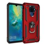 Hybrid PC TPU Kickstand Armor Phone Cover for Huawei Mate 30 Lite / nova 5i Pro – Red