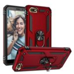 Hybrid PC TPU Kickstand Armor Phone Case Cover for Huawei Y5 (2018) – Red