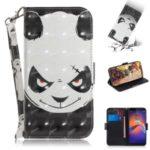 Pattern Printing Light Spot Decor Leather Wallet Case for Motorola Moto E6 Play – Panda Pattern