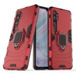 Cool Guard Ring Holder Kickstand PC TPU Hybrid Case for Xiaomi Mi CC9 Pro/Mi Note 10/Mi Note 10 Pro – Red
