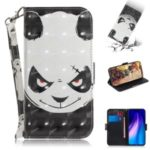 Pattern Printing Light Spot Decor PU Leather Wallet Case for Xiaomi Redmi Note 8T – Panda Pattern