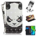 Patterned Leather Phone Cover Light Spot Decor Stand Case for Xiaomi Mi CC9 Pro/Note 10/Note 10 Pro – Panda