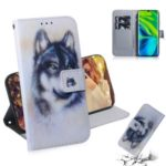 Pattern Printing Wallet Stand Flip Leather Phone Case for Xiaomi Mi CC9 Pro/Mi Note 10/Mi Note 10 Pro – Wolf