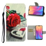 Pattern Printing PU Leather Wallet Phone Cover for Xiaomi Redmi 8A – Rose