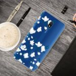 Pattern Printing IMD Clear TPU Cover for Xiaomi Redmi 8A – White Flower