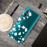 Pattern Printing IMD TPU Clear Phone Shell for Xiaomi Mi CC9 Pro/Mi Note 10/Mi Note 10 Pro – White Flower