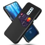 KSQ Cloth + PU Leather + PC Phone Shell with Card Slot for Vivo V17 Pro – Black