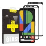 2Pcs/Set ITIETIE Silk Printing 2.5D 9H Tempered Glass Screen Shield for Google Pixel 4 XL
