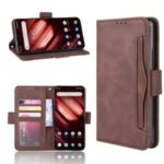Wallet Stand Flip Leather Case for Umidigi F1/F1 Play – Brown