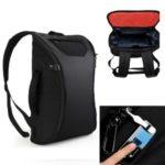 WIWU V2 Smart Fingerprint Backpack Anti-theft Computer Bag Business Travel Large Capacity Handbag – Black