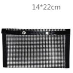 PTFE Non-Stick BBQ Mesh Grill Bag Outdoor Picnic Barbecue Cooking Tool – Size: 14x22cm