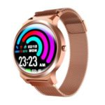 ELF1 Full Touch Screen Female Physiological Cycle Tracker Health Monitoring Smart Bracelet – Rose Gold