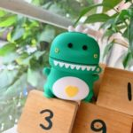 Cartoon Shaped Design Silicone Earphone Case Cover for Huawei Freebuds 2/2 Pro – Green Dinosaur