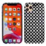 Lattice Texture IMD Acrylic + TPU Hybrid Anti-drop Phone Cover for iPhone 11 Pro 5.8 inch – Black