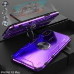 Drop-proof Kickstand Metal Cell Phone Cover for iPhone XS Max 6.5 inch – Purple