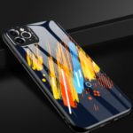 Patterned Tempered Glass + TPU Combo Case with Metal Lens Cover for iPhone 11 Pro Max 6.5 inch – Style A