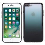 Gradient Color Plastic + TPU Phone Cover for iPhone 7 Plus/8 Plus 5.5 inch – Black