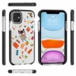 Pattern Printing Imprinted PC + TPU + TPE Hybrid Case for iPhone 11 Pro Max 6.5 inch – Style A
