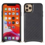 MUTURAL Drop-proof Phone Cover with Metal Strap for iPhone 11 Pro 5.8 inch – Grey