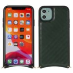 MUTURAL PU Leather Coated Phone Case with Metal Strap for Apple iPhone 11 6.1 inch – Green