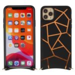 MUTURAL Drop-proof PC + TPU Combo Shell with Shoulder Strap for iPhone 11 Pro 5.8 inch – Black