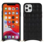 MUTURAL Square Surface PU Leather + PC + TPU Case with Metal Strap for iPhone 11 Pro 5.8 inch – Black