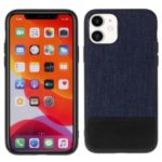 MUTURAL Cloth Texture Leather Coated PC+TPU Combo Case for iPhone 11 6.1 inch – Blue/Black