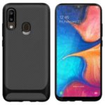 Anti-slip Texture Anti-drop TPU Mobile Case Cover for Samsung Galaxy A20e – Black