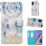 Pattern Printing Light Spot Decor Leather Wallet Case for Samsung Galaxy A51 – Feather Dream Catcher
