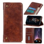 Auto-absorbed Magnetic Leather Cover with Wallet for Samsung Galaxy S20 Plus / S11 – Brown