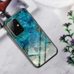 Gradient Color Tempered Glass + PC + TPU Hybrid Case for Samsung Galaxy S20/S11e – Emerald