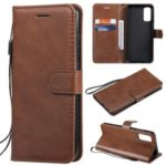 Cell Phone Protection Case with Wallet Leather for Samsung Galaxy S20 – Brown