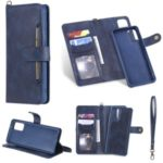 Shockproof Detachable 2-in-1 Retro Leather Wallet Phone Case for Samsung Galaxy S20 Plus – Dark Blue