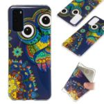 Noctilucent IMD TPU Phone Case for Samsung Galaxy S20 – Owl Pattern
