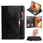 Multi-slot Wallet PU Leather Tablet Case with Pen Pouch for Huawei MatePad Pro – Black