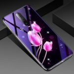 Plated TPU Frame+Blue-ray Tempered Glass+PC Back Combo Case for Xiaomi Redmi K30 – Tulip